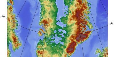 Danmark Topografisk Karta Karta Over Danmark Topografiska Norra