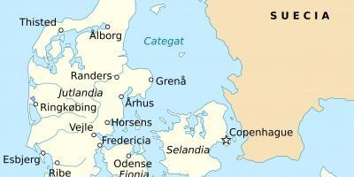 randers danmark karta Fredericia danmark karta   Karta över fredericia i danmark (Norra  randers danmark karta